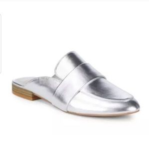 Dolce Vita Cecil Silver Leather Mule Loafer